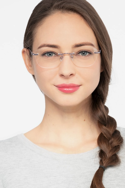 Vince Light Purple Metal Eyeglass Frames for Women from EyeBuyDirect, Front View