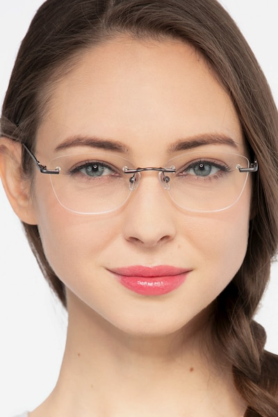 Vince Gunmetal Metal Eyeglass Frames for Women from EyeBuyDirect