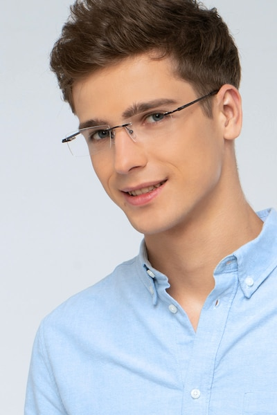 Regis Brown Metal Eyeglass Frames for Men from EyeBuyDirect