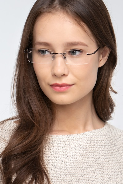 Regis Brown Metal Eyeglass Frames for Women from EyeBuyDirect, Front View