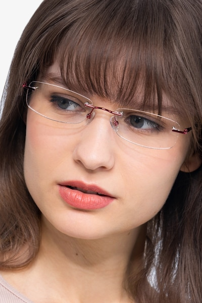 Lithe Cinnamon Red Metal Eyeglass Frames for Women from EyeBuyDirect