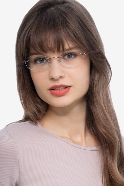 Create Purple Metal Eyeglass Frames for Women from EyeBuyDirect, Front View