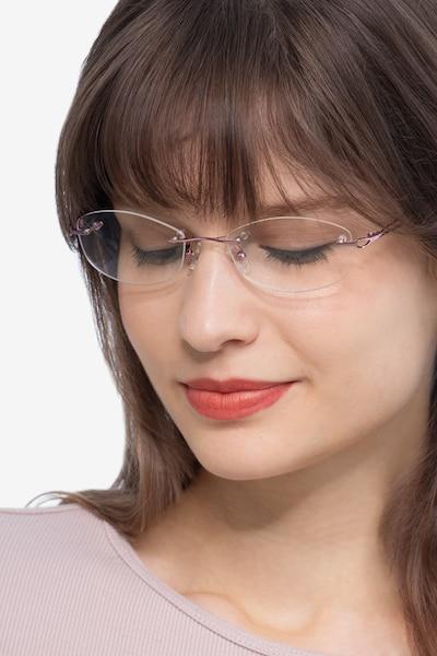 Create Violet Métal Montures de Lunettes pour Femmes d'EyeBuyDirect