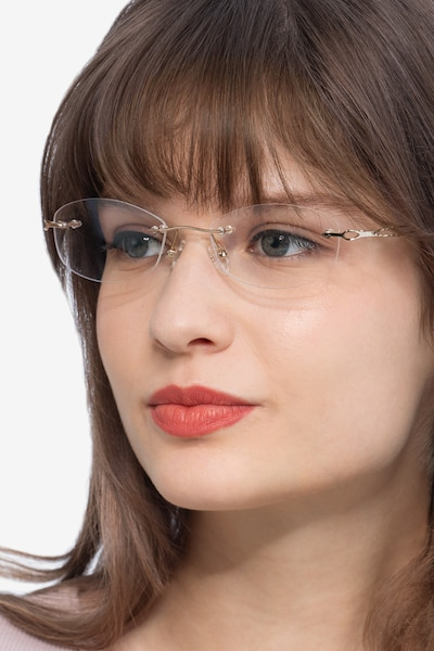Create Gold Metal Eyeglass Frames for Women from EyeBuyDirect