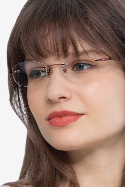 Create Burgundy Metal Eyeglass Frames for Women from EyeBuyDirect