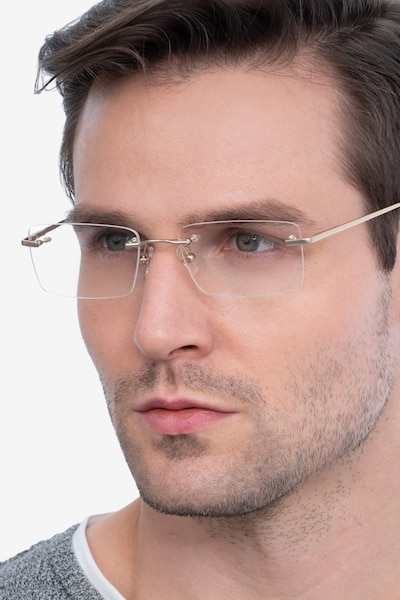 Enterprise Gold Metal Eyeglass Frames for Men from EyeBuyDirect