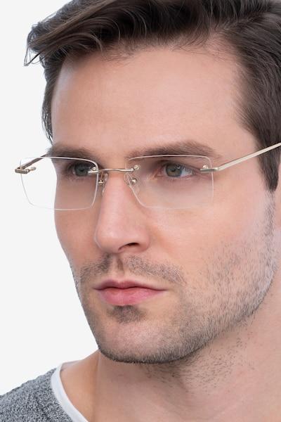 Enterprise Doré Métal Montures de Lunettes pour Hommes d'EyeBuyDirect
