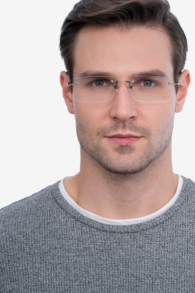 Evolve Bronze Metal Eyeglass Frames for Men from EyeBuyDirect, Front View