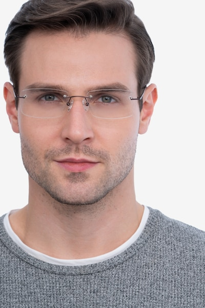 Forge Coffee Metal Eyeglass Frames for Men from EyeBuyDirect, Front View