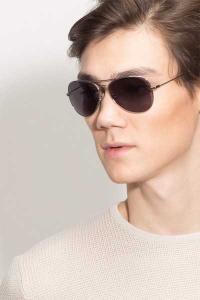Good Vibrations Silver Metal Sunglass Frames for Men from EyeBuyDirect