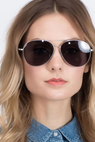 Camp  Matte Silver  Metal Sunglass Frames for Women from EyeBuyDirect