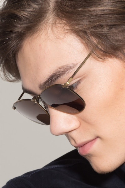 Fume Bronze Metal Sunglass Frames for Men from EyeBuyDirect