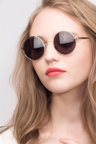 Guru  Light Golden  Metal Sunglass Frames for Women from EyeBuyDirect