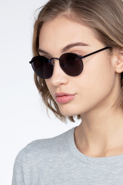 Rex  Navy  Metal Sunglass Frames for Women from EyeBuyDirect