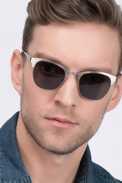 Veil Gunmetal Metal Sunglass Frames for Men from EyeBuyDirect