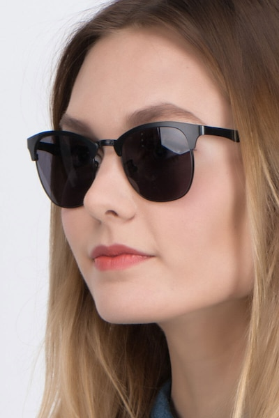 Veil Black Metal Sunglass Frames for Women from EyeBuyDirect