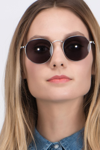 Disclosure Silver Metal Sunglass Frames for Women from EyeBuyDirect