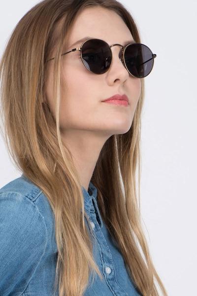 Disclosure Marron Métal Soleil de Lunette de vue pour Femmes d'EyeBuyDirect, Vue de Face