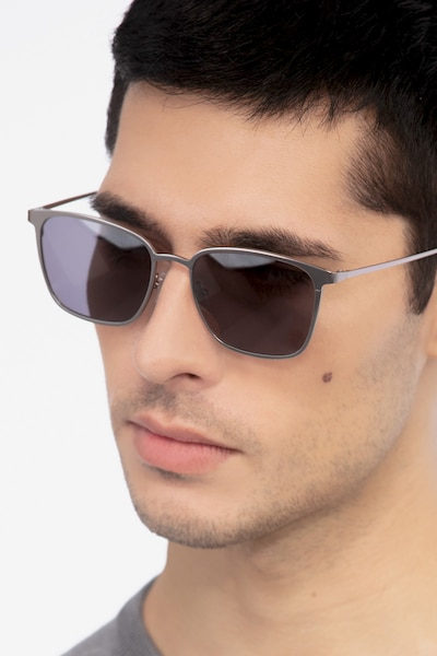 Jolt Gunmetal Metal Sunglass Frames for Men from EyeBuyDirect
