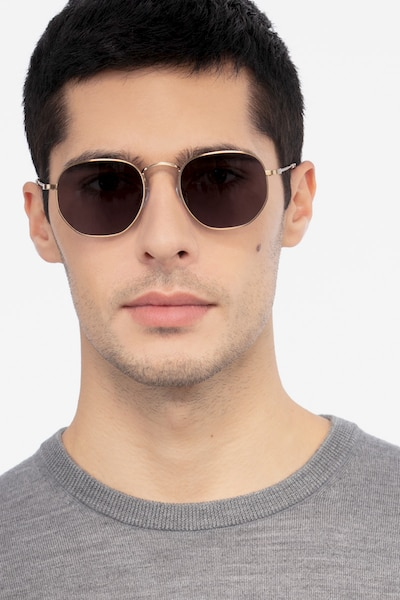 Boardwalk Copper Metal Sunglass Frames for Men from EyeBuyDirect, Front View
