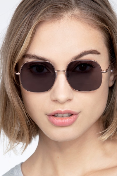 Sun Movement Rose Gold Metal Sunglass Frames for Women from EyeBuyDirect