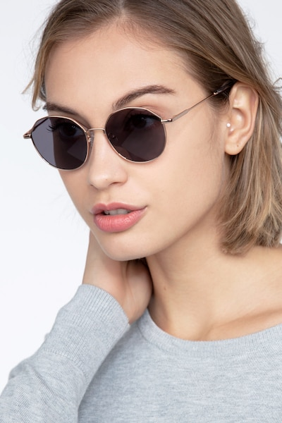 Village Rose Gold Metal Sunglass Frames for Women from EyeBuyDirect