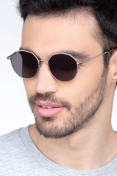 Village Silver Metal Sunglass Frames for Men from EyeBuyDirect