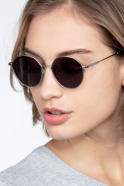 Village Silver Metal Sunglass Frames for Women from EyeBuyDirect