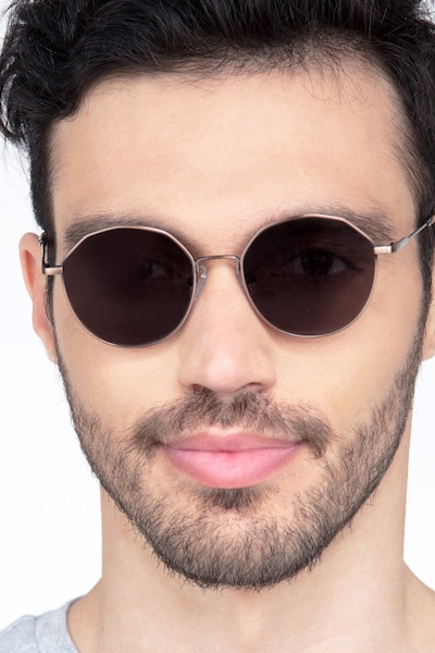 Village Bronze Metal Sunglass Frames for Men from EyeBuyDirect