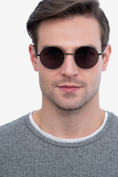 Sun Synapse Black Metal Sunglass Frames for Men from EyeBuyDirect