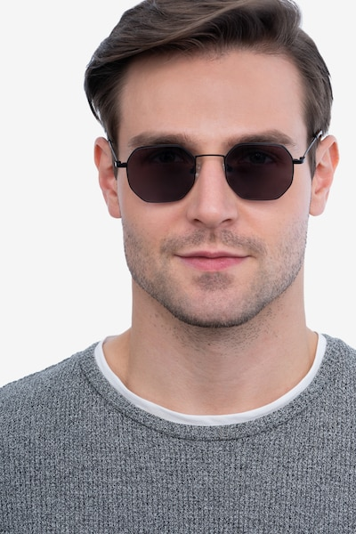 Sun Soar Black Metal Sunglass Frames for Men from EyeBuyDirect