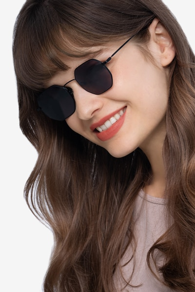 Sun Soar Black Metal Sunglass Frames for Women from EyeBuyDirect
