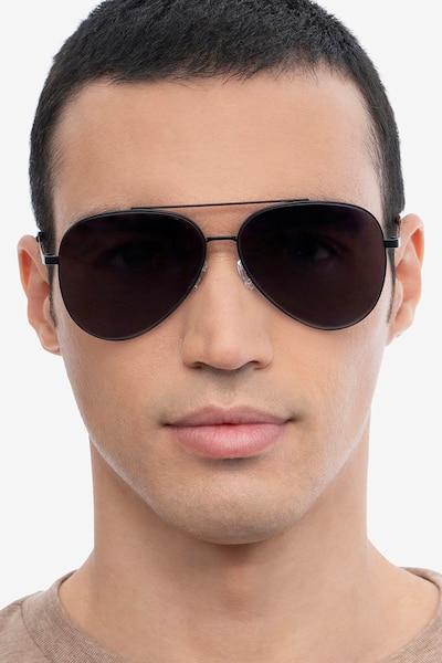 Flier Black Metal Sunglass Frames for Men from EyeBuyDirect