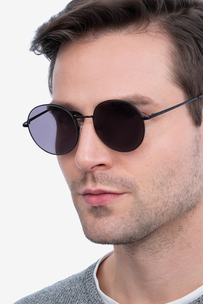 Solbada Black Metal Sunglass Frames for Men from EyeBuyDirect