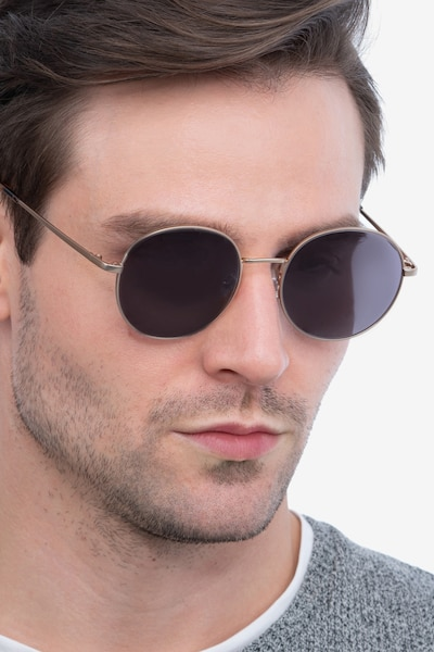 Solbada Gold Metal Sunglass Frames for Men from EyeBuyDirect, Front View