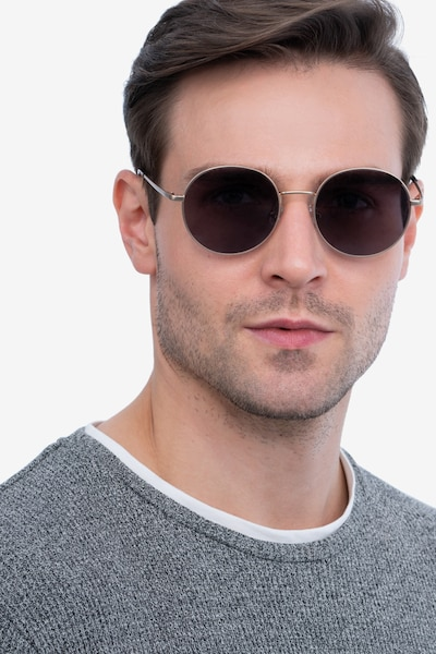 Solbada Gold Metal Sunglass Frames for Men from EyeBuyDirect