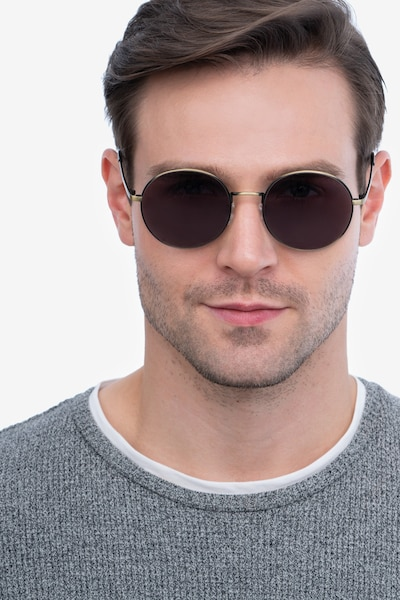 Solbada Bronze Metal Sunglass Frames for Men from EyeBuyDirect