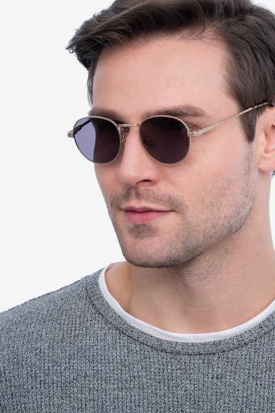 Sun Belleville Gold Metal Sunglass Frames for Men from EyeBuyDirect