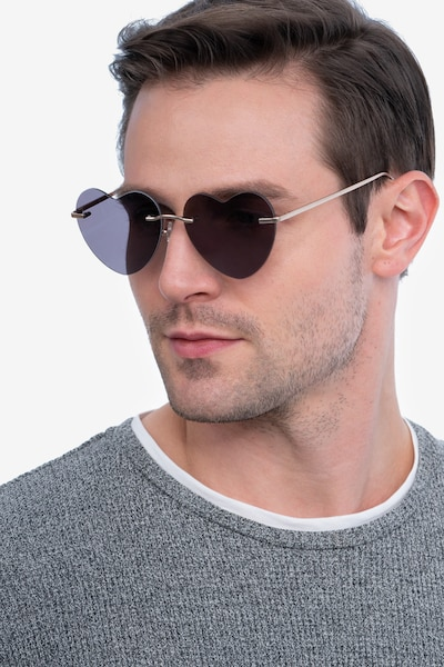 Sun Amore Gold Metal Sunglass Frames for Men from EyeBuyDirect