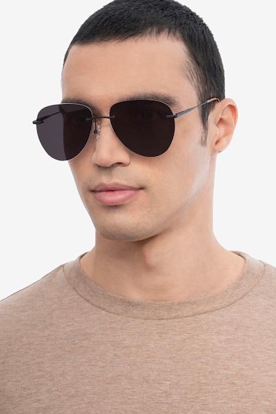 Martin Matte Black Metal Sunglass Frames for Men from EyeBuyDirect
