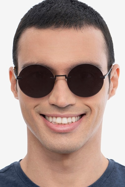 Wise Black Metal Sunglass Frames for Men from EyeBuyDirect