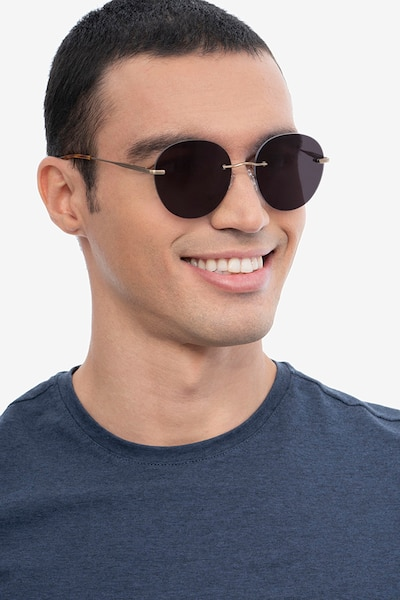 Coast Bronze Metal Sunglass Frames for Men from EyeBuyDirect, Front View