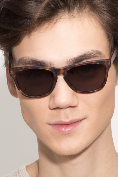 Malibu Brown/Tortoise Acetate Sunglass Frames for Men from EyeBuyDirect