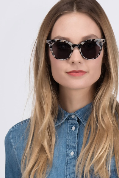 Divine Gray/Tortoise Acetate Sunglass Frames for Women from EyeBuyDirect