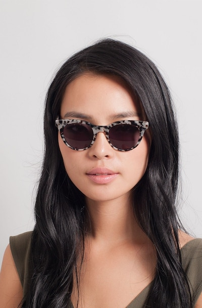 Divine Gray/Tortoise Acetate Sunglass Frames for Women from EyeBuyDirect, Front View