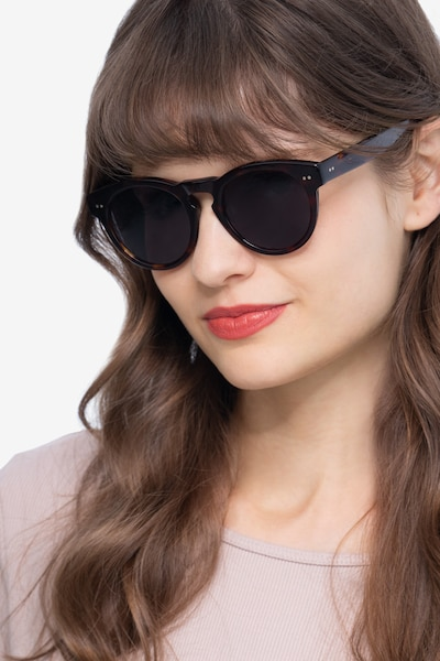 Penelope Brown/Tortoise Acetate Sunglass Frames for Women from EyeBuyDirect