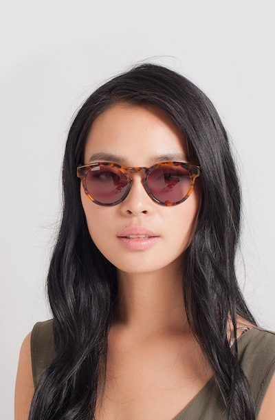 Penelope Brown/Tortoise Plastic Sunglass Frames for Women from EyeBuyDirect, Front View