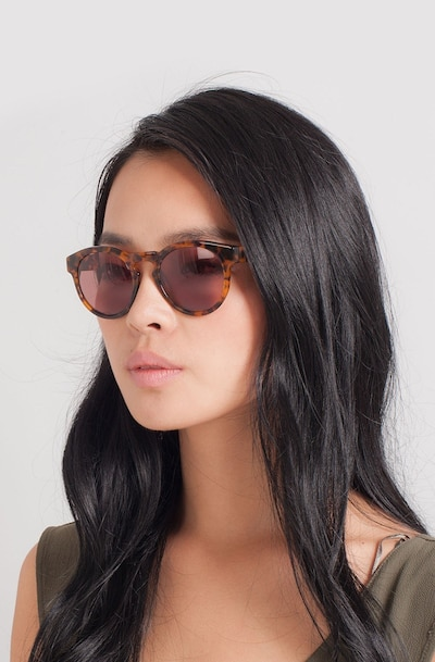 Penelope Brown/Tortoise Plastic Sunglass Frames for Women from EyeBuyDirect