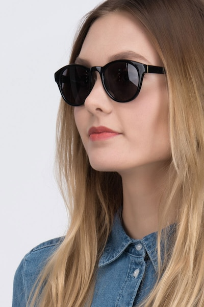 Coppola Black Plastic Sunglass Frames for Women from EyeBuyDirect