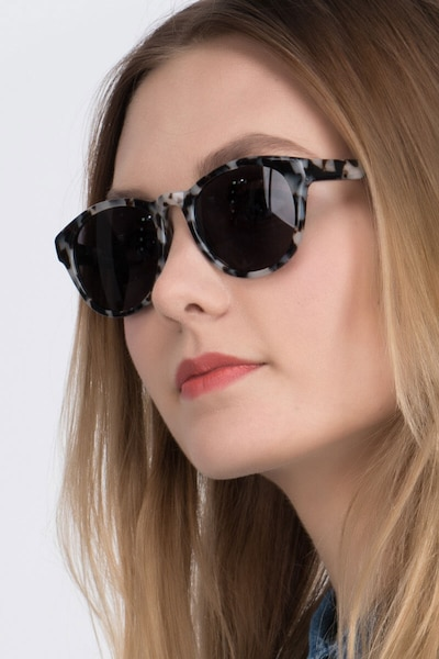 Coppola Gray/Brown Plastic Sunglass Frames for Women from EyeBuyDirect
